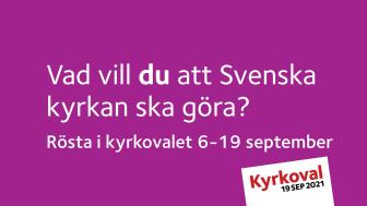 Rösta i Kyrkovalet 2021 i Nordstan 6-19 September