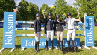 Åby Ridklubb vann semifinalen i Folksam Elitallsvenska på Strömsholm. Nu är de på jakt efter finalsegern och SM-guldet. Foto: Roland Thunholm