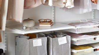Elfa-ta hand om kläder som är överflödiga och inte får plats i garderoben