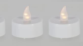Pienet LED-kynttiät ovat turvallinen valinta lyhtyihin.