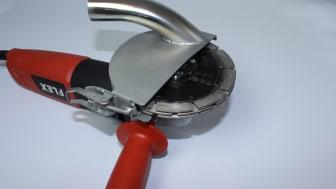 Dammfri fogfräsning och kapning med Clip-On Sugkåpa