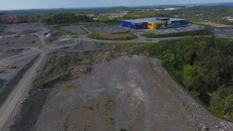 Posten planlegger å bygge ny terminal på denne tomten i Lillesand kommune.
