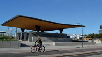 Nya entrén till Helsingborg C - söder om Knutpunkten