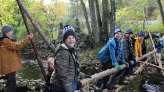 Allt fler barn och unga vill bli scouter. Foto Jenny Modess