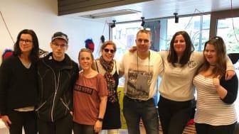 Medlemmar i Ateljé Krut under skaparveckan i Hallsberg