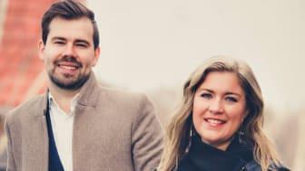 HusmanHagbergs nya franchisetagare för Borlänge & Säter; Victor Pers Gesteby och Maja Sultan.