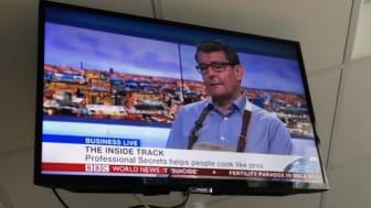 """Professional Secrets VD och grundare Niklas Wakeus förklara i programmet BBC Business Live hur han har förvandlat sin hobby till ett ledande varumärke för """"foodies""""."""