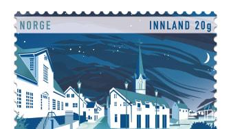 Lillesand som «den hvite byen» er motivet på det nye frimerket som gis ut i anledning byens 200 års jubileum