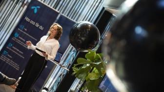 Birgit Bjørnsen, leder for TV og bredbånd i Telenor. (Foto: Martin Fjellanger/Telenor)