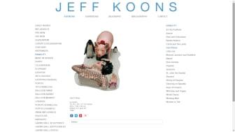 Image: screenshot of www.jeffkoons.com