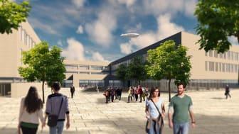 Die Ed. Züblin AG erhält den Auftrag für den Neubau des kooperativen Schulzentrums Bertolt-Brecht-Schule in Nürnberg.