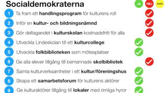 """""""Kulturpartiets valmanifest"""": Så skulle Socialdemokraterna rösta"""