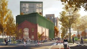 Hallen blir første bygg i helseparken som totalt får 76.000 kvadratmeter.