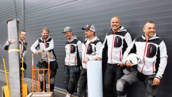 Delar av teamet på Hendrick's Golv som just anslutit till Golvbranschen, GBR