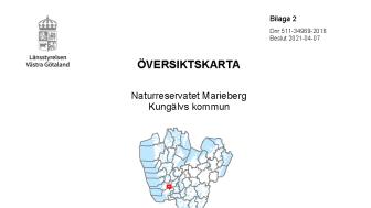 Översiktskarta, Mariebergs naturreservat
