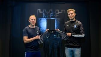 Henrik Jönsson (Malmö Fria Läroverk) och Filip Ahlström (Malmö FF)