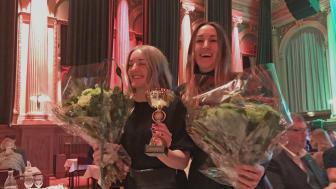 Louise Larsson och Pauline Hansson från Älvstranden Utveckling på Upphandlingsdagarna 2020