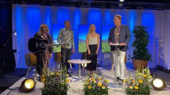 Rebecka Haak stod för underhållningen och bland talarna fanns prefekt Per Nylén, studentkårens ordförande Paulina Samuelsson samt rektor Martin Hellström.
