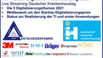 Ergebnis-Veranstaltung 2021 im Rahmen des Deutschen Krankenhaustages: Melden Sie sich für den digitalen Live Stream an!