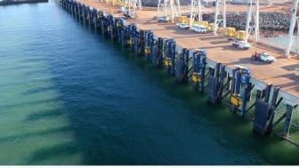 MoorMaster™ units poised for mooring at Port Hedland's Utah Point multi-user berth