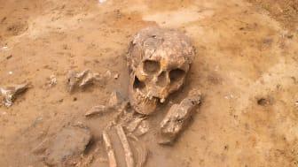 Der var både børn og voksne i de gådefulde grave, som dukkede op, da den nye bro skulle anlægges. Foto: ROMU