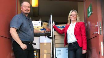 Martin Ahlstrand på Submans Catering Göteborg AB och Marianne Wadefalk, marknadsområdeschef på Riksbyggens fastighetsförvaltning i Göteborg.