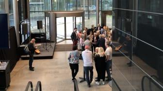 Invigning på Arlanda av installationen Jupiter med fyra galileiska månar som en del av Sweden Solar System (SSS)