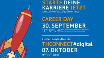 Am 7. Oktober 2021 lädt die TH Wildau Studierende, Absolvent/-innen, Unternehmen und Existenzgründer/-innen zur virtuellen Firmenkontaktmesse THConnect ein – bereits am 30. September 2021 organisiert die Hochschule den Career Day.