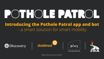 JOBURG POTHOLE PATROL GOES SMART MOBILITY IN TRANSPORT MONTH