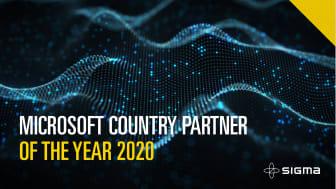 Sigma IT Group har vunnit den hedervärda utmärkelsen Microsoft Country partner of the year för andra gången.