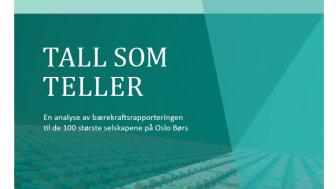 SpareBank 1 Østlandet i toppsjiktet på bærekraftsrapportering