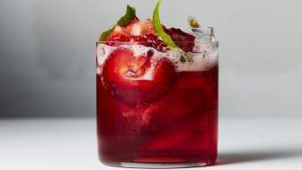 Campari, strawberries and tonic water