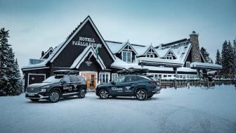 Hyundai erbjuder fria lånebilar till Hotell Fjällgårdens gäster i Åre
