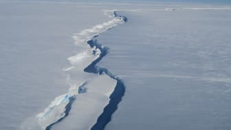 Chasm 1 in the Brunt Ice Shelf (credit: Jan De Rydt)
