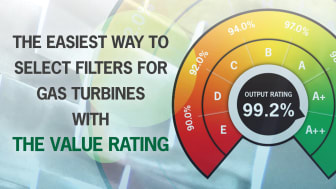 The Value Rating: Easiest way to select the best filters for gas turbines
