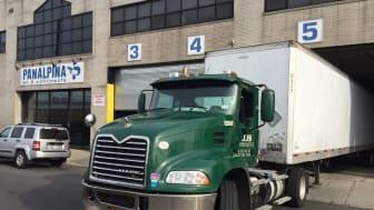Truck docking at New York JFK gateway