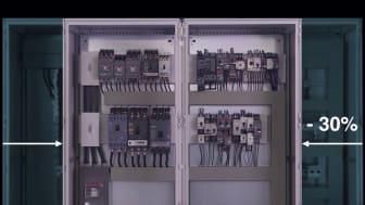 Med hjälp av skensystem kan montageytan generellt minska med upp till 30 procent jämfört med ett system som använder konventionell trådning.