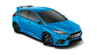 Ford Focus RS i färgen Nitrous Blue