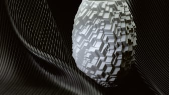 Geometric patterns with 3D effects: Vase City from Rosenthal collection Phi by Cairn Young.