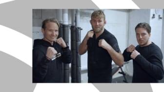I första avsnittet av Let ́s Go - Byggis & Mackan fightas de mot The Mauler. Foto: Justus Bång