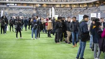 Sommarjobbsmässan den 4 februari 2020 - närmare 1000 ungdomar och 25 företag