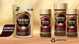 Nescafé Kulta -pikakahvin kaikki pakkaukset voidaan