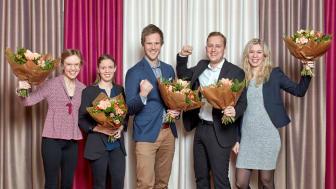 Från vänster:  Tina Malmros, Lee Henriksson, Robert Ringvall, Jakob Traung , Malin Dahlbom
