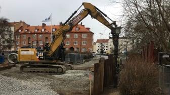 Grävarbete vid Mariedalsvägen, Malmö 2021