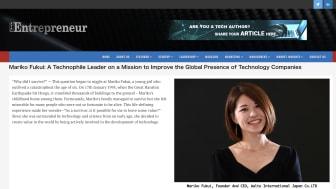 APAC Entrepreneur: Most Inspiring Japanese Entrepreneurs of 2021 福井インタビュー記事