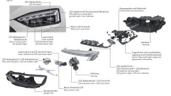Matrix LED headlight with Audi laser light