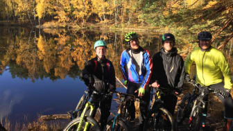 Some of our MtB enthusiasts - Karin,  Mikael, Niclas and Patrick out 'joyriding'