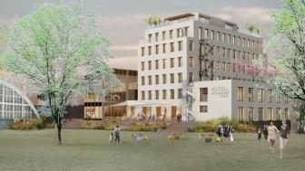 Malmberg Geoenergi levererar miljövänlig värme och kyla till nya Fritiden Hotell & Kongress i Ystad