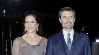 Kronprinsparrets ankomst til Kronprinsparrets Priser 2020 på Værket i Randers