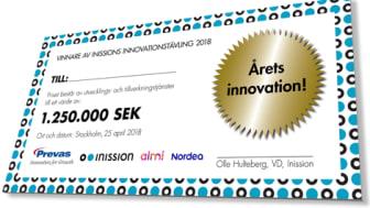Årets innovation - Inission innovation award 2019